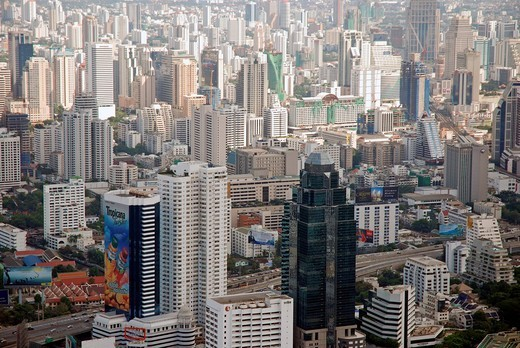 Stock Photo: 1848-499524 Look from the Baiyoke tower, topmost building of Thailand, Bangkok, Thailand, Asia