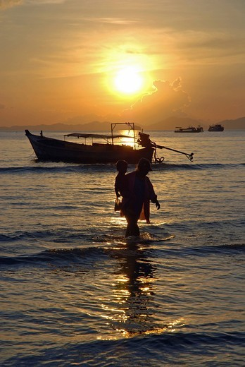 Stock Photo: 1848-499636 Sunset, Ao Nang, Thailand, Asia