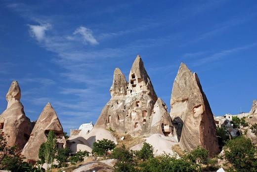Stock Photo: 1848-500049 Tuff rock from Uchisar, near by Goereme, Cappadocia, turkey