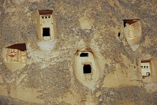 Uchisar Castle hill, Cappadocia, Turkey : Stock Photo