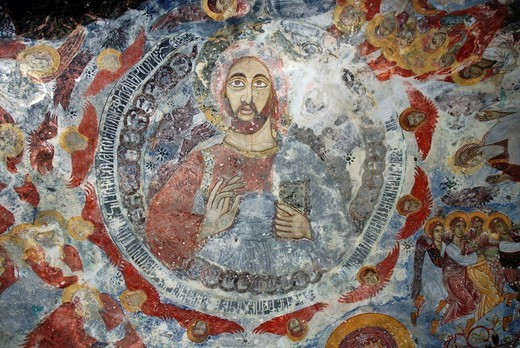 Stock Photo: 1848-500133 Fresco, Sumela Monastery, Trabzon, Turkey