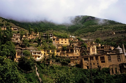 Stock Photo: 1848-500561 Mountain village Masuleh at about 1050 m height, North of Iran