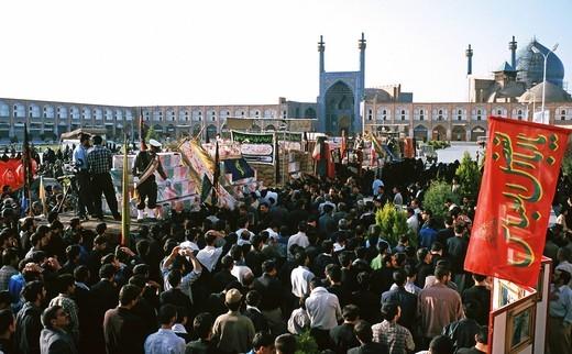 Ashura rituals, penitent processions, Isfahan, Iran : Stock Photo
