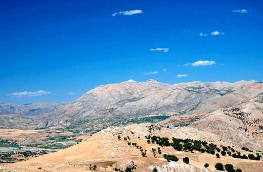 Landscape in the province Adiyaman, Taurus mountains, Anatolia, Turkey : Stock Photo
