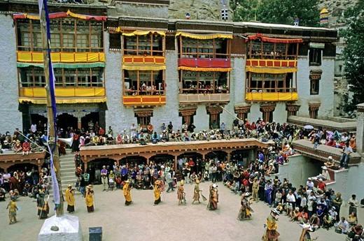 Mask dances, Hemis, Ladakh, India, Asia : Stock Photo