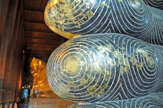 Laying Buddha, Wat Pho, Bangkok, Thailand, Southeast Asia, Asia : Stock Photo