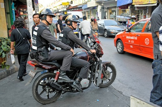Stock Photo: 1848-501416 Police, Bangkok, Thailand, Southeast Asia, Asia