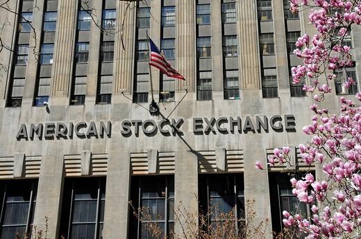 Stock Photo: 1848-501736 American Stock Exchange, AMEX, Trinity Place, Manhattan, New York City, USA