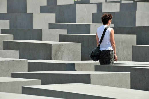 Stock Photo: 1848-501993 Memorial to the murdered Jews in Europe, Holocaust Memorial, Berlin, Germany, Europe