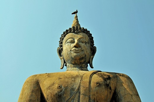 Stock Photo: 1848-502107 Buddha statue, Wat Mahathat, Sukhothai, Thailand, Asia