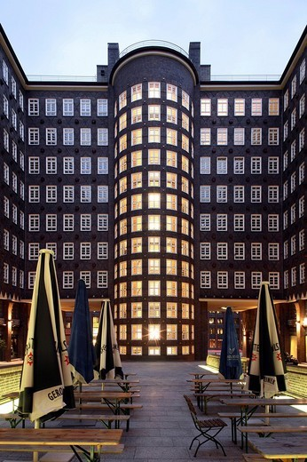 Stock Photo: 1848-50885 Sprinkenhof Kontorhaus office building, Hamburg, Germany, Europe