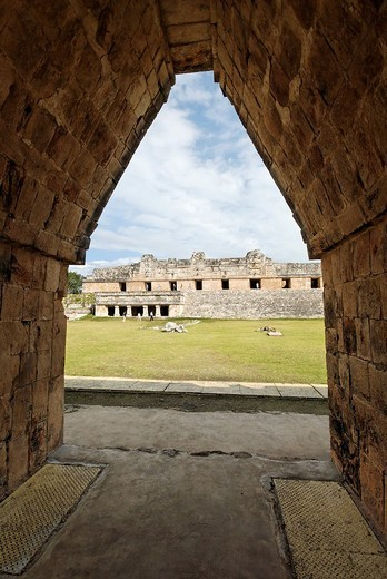 Cuadrangulo de las Monjas, quadrangle or square of the nuns, Maya archeological site Uxmal, Yucatan, Mexico : Stock Photo