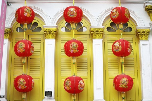 SGP Singapore: Chinatown chinese laterns. , : Stock Photo