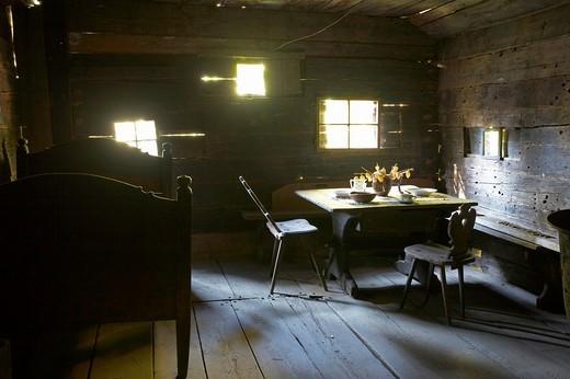 Stock Photo: 1848-51829 Farmhouse parlor, Maria Saal open air museum, Carinthia, Austria