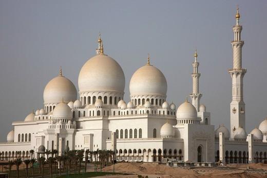 Stock Photo: 1848-52690 Sheikh Zayed Bin Sultan Al Nahyan Mosque, Abu Dhabi, United Arab Emirates, Middle East