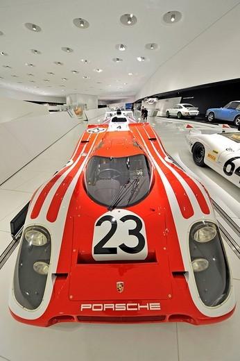 Porsche 917 KH, Kurzheck, Coupé, Neues Porsche Museum, Zuffenhausen, Stuttgart, Baden_Wuerttemberg, Deutschland, Europa : Stock Photo