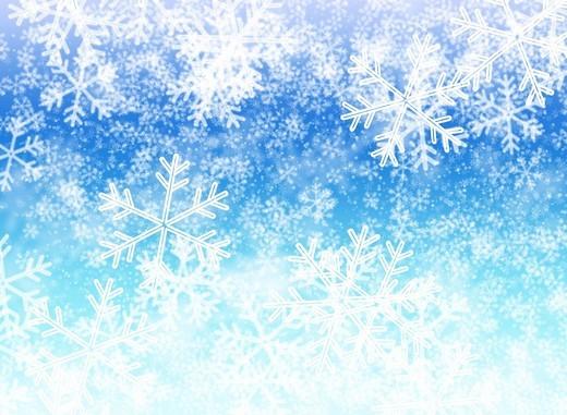 White snowflakes, blurred background : Stock Photo