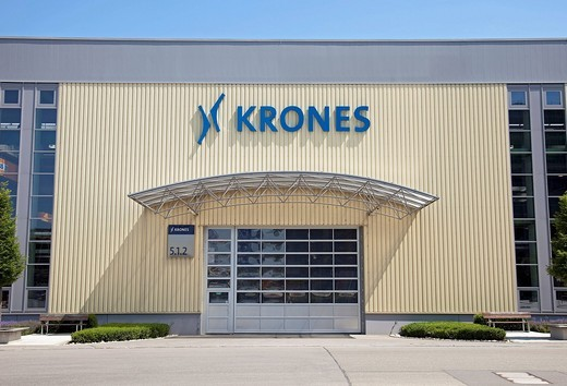 Krones AG company, producing bottling plants, plant in Neutraubling, Bavaria, Germany, Europe : Stock Photo