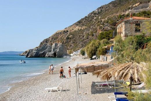 White beach, Melinda, Lesbos, Aegean Sea, Greece, Europe : Stock Photo