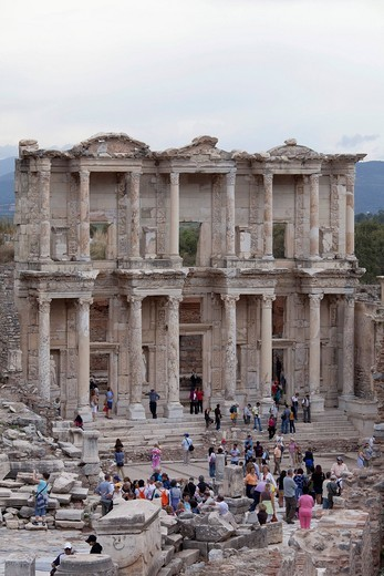 Celsus Library, Ephesus, Selcuk, Lycia, Turkey, Asia : Stock Photo