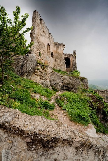 Stock Photo: 1848-530642 Ruins of Duernstein Castle, Wachau, Lower Austria, Austria, Europe