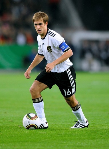 Stock Photo: 1848-531128 Philipp Lahm, qualifier for the UEFA European Football Championship 2012, Germany _ Azerbaijan 6:1, RheinEnergieStadion stadium, Cologne, North Rhine_Westphalia, Germany, Europe