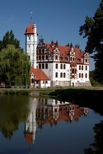 Schloss Basedow Castle, Mecklenburg Switzerland, Mecklenburg_Western Pomerania, Germany, Europe : Stock Photo