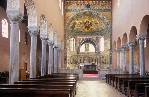 Stock Photo: 1848-531596 Basilica of Euphrasius, Porec, Istria, Croatia, Europe