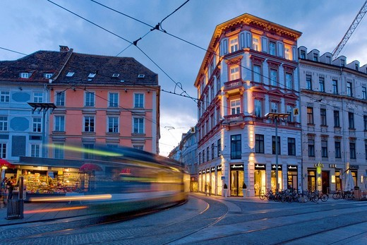 City centre, Graz, Styria, Austria, Europe : Stock Photo