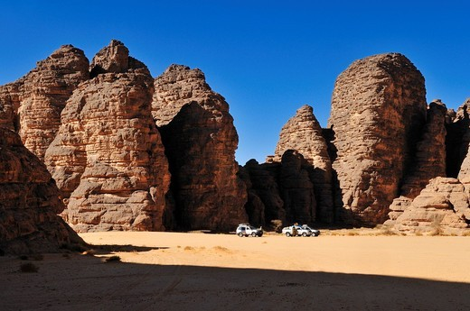 Stock Photo: 1848-532592 Sandstone rock formation at Tikobaouine, Tassili n´Ajjer National Park, Unesco World Heritage Site, Wilaya Illizi, Algeria, Sahara, North Africa