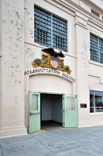 Stock Photo: 1848-533493 Exterior, prison administration building, Alcatraz Island, California, USA