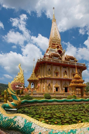 Stock Photo: 1848-53374 Wat Chalong Temple, Phuket Island, Thailand, Asia