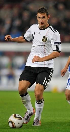 Miroslav Klose, European Football Championship Qualification, Germany – Azerbaijan 6:1 in RheinEnergieStadion stadium, Cologne, Germany, Europe : Stock Photo