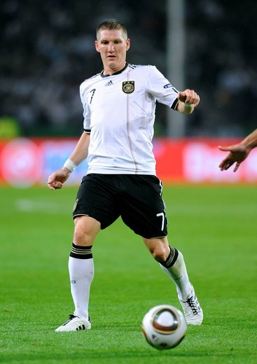 Bastian Schweinsteiger, qualifier for the UEFA European Football Championship 2012, Germany _ Azerbaijan 6:1, RheinEnergieStadion stadium, Cologne, North Rhine_Westphalia, Germany, Europe : Stock Photo