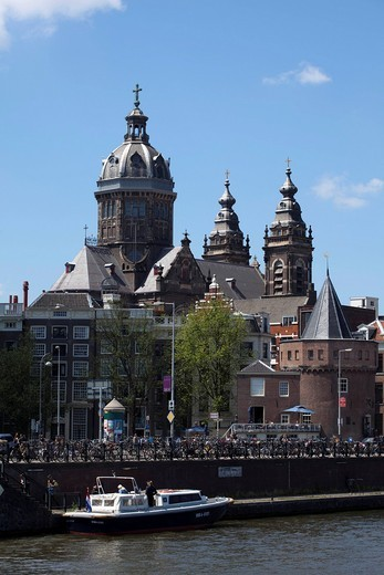 Church of Saint Nicholas, Amsterdam, Holland, Netherlands, Europe : Stock Photo