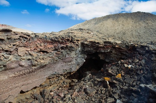 Volcanic landscape in Montana del Fuego de Timanfaya National Park, Lanzarote, Canary Islands, Spain, Europe : Stock Photo