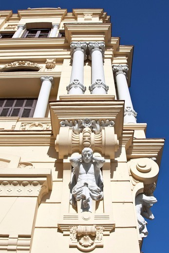 Facade of the town hall of Malaga, Ayuntamiento de Malaga town hall, Malaga, Andalusia, Spain, Europe : Stock Photo