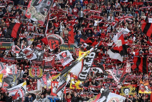 Stock Photo: 1848-537659 Bayer Leverkusen fan block