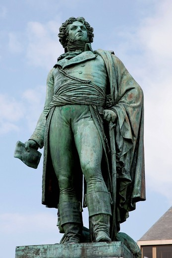 Statue of Jean Baptiste Kleber, a French general during the French Revolutionary Wars, Strasbourg, Alsace, France, Europe : Stock Photo