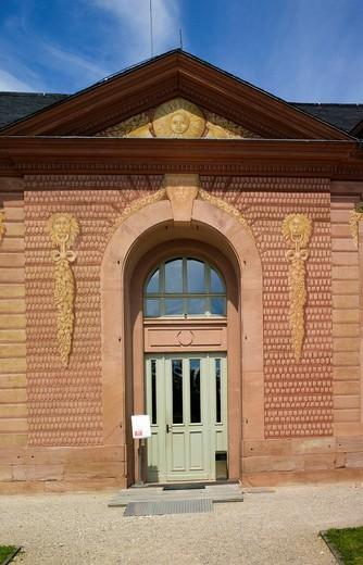 New orangery, Schloss Schwetzingen castle, 18th century, Schwetzingen, Baden_Wuerttemberg, Germany, Europe : Stock Photo