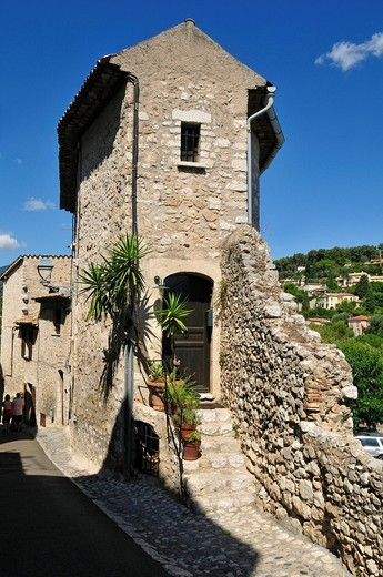 Historic historic town of St. Paul de Vence, Cote d´Azur, Alpes Maritimes, Provence, France, Europe : Stock Photo