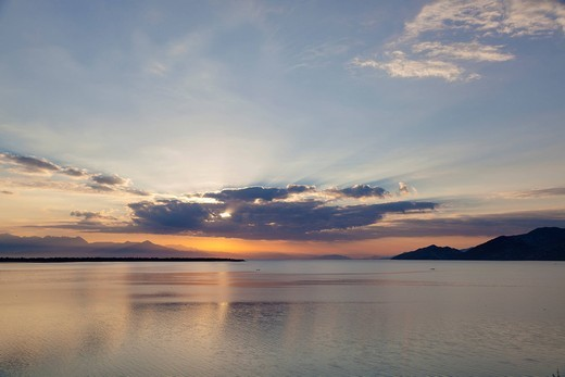 Sunrise over Lake Skadar, Montenegro, Europe : Stock Photo