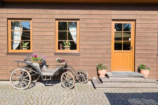 Grafaites Svetaine Hotel, Ausros gatve, Ausros Street, Ginkunai, Siauliai district, Lithuania, Northern Europe : Stock Photo
