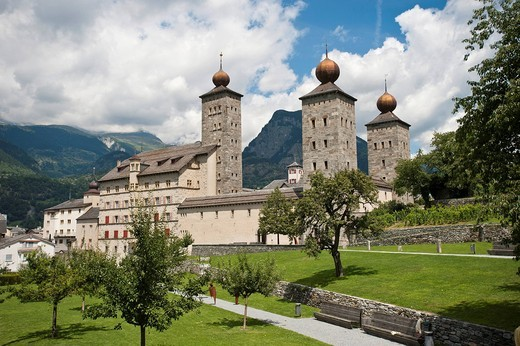 Stock Photo: 1848-540485 Stockalper Palace, Brig, canton of Valais, Switzerland, Europe