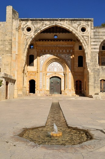 Historic Beit ed_Dine, Beiteddine Palace of Emir Bashir, Chouf, Lebanon, Middle East, West Asia : Stock Photo