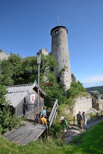 Ruins of Falkenstein Castle, Lower Austria, Austria, Europe : Stock Photo