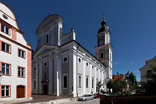 Church of St. Peter, Neuburg an der Donau, Bavaria, Germany, Europe : Stock Photo