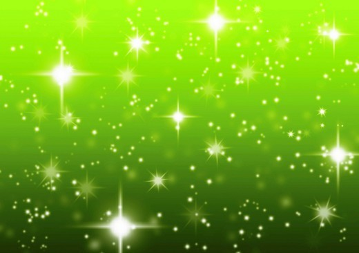 Stock Photo: 1848-542169 Starry green abstract background