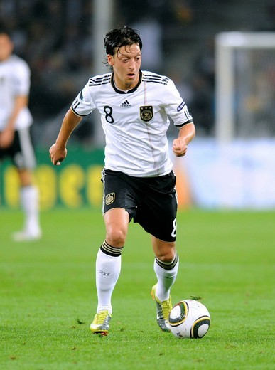 Mesut Oezil, qualifier for the UEFA European Football Championship 2012, Germany _ Azerbaijan 6:1, RheinEnergieStadion stadium, Cologne, North Rhine_Westphalia, Germany, Europe : Stock Photo