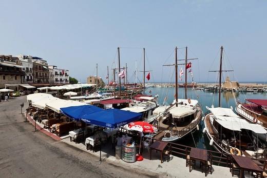 Port of Kyrenia, Nothern Cyprus, Cyprus : Stock Photo